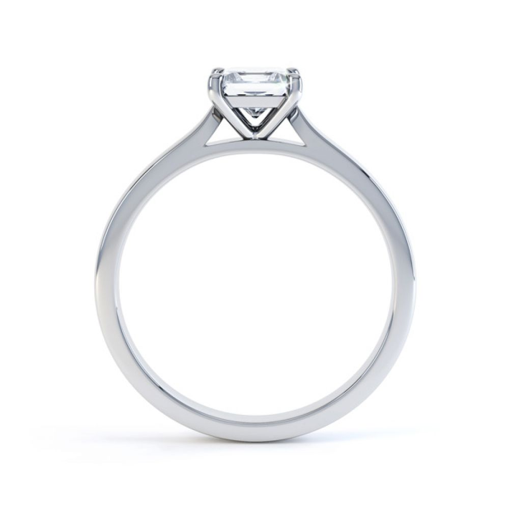 4 Prong Princess Engagement Ring Wedfit Setting Side View