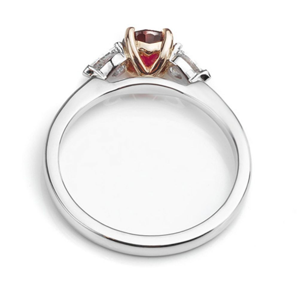 18ct Rose Gold and Platinum Ruby Ring