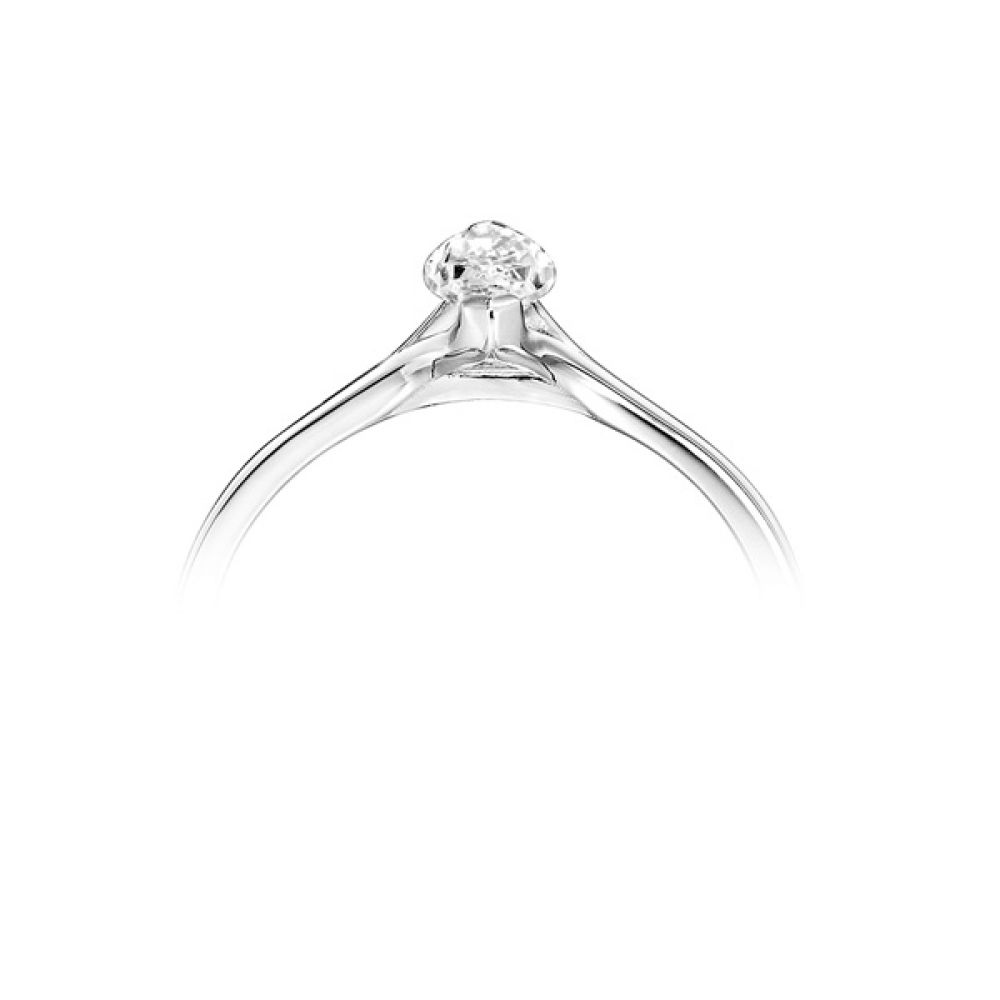 Split Shoulder 2 Claw Marquise Diamond Ring White Gold Side