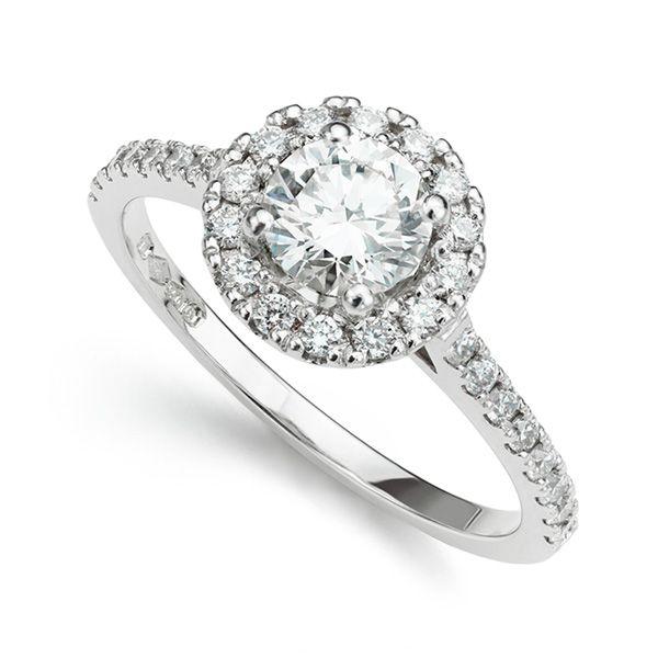 Ariel Diamond Halo Engagement Ring
