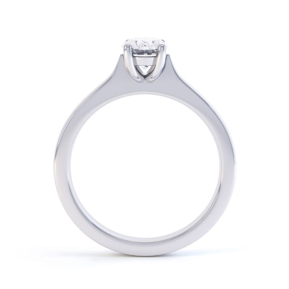 Wedfit 4 Claw Oval Diamond Engagement Ring Side View