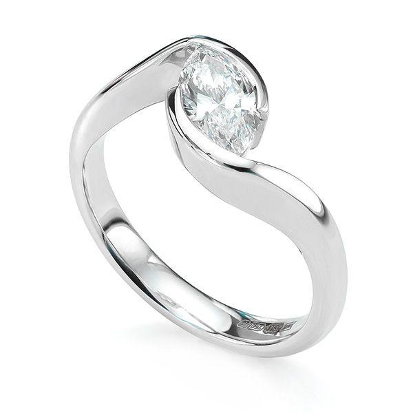 Ursa Marquise Twist Diamond Engagement Ring Main Image