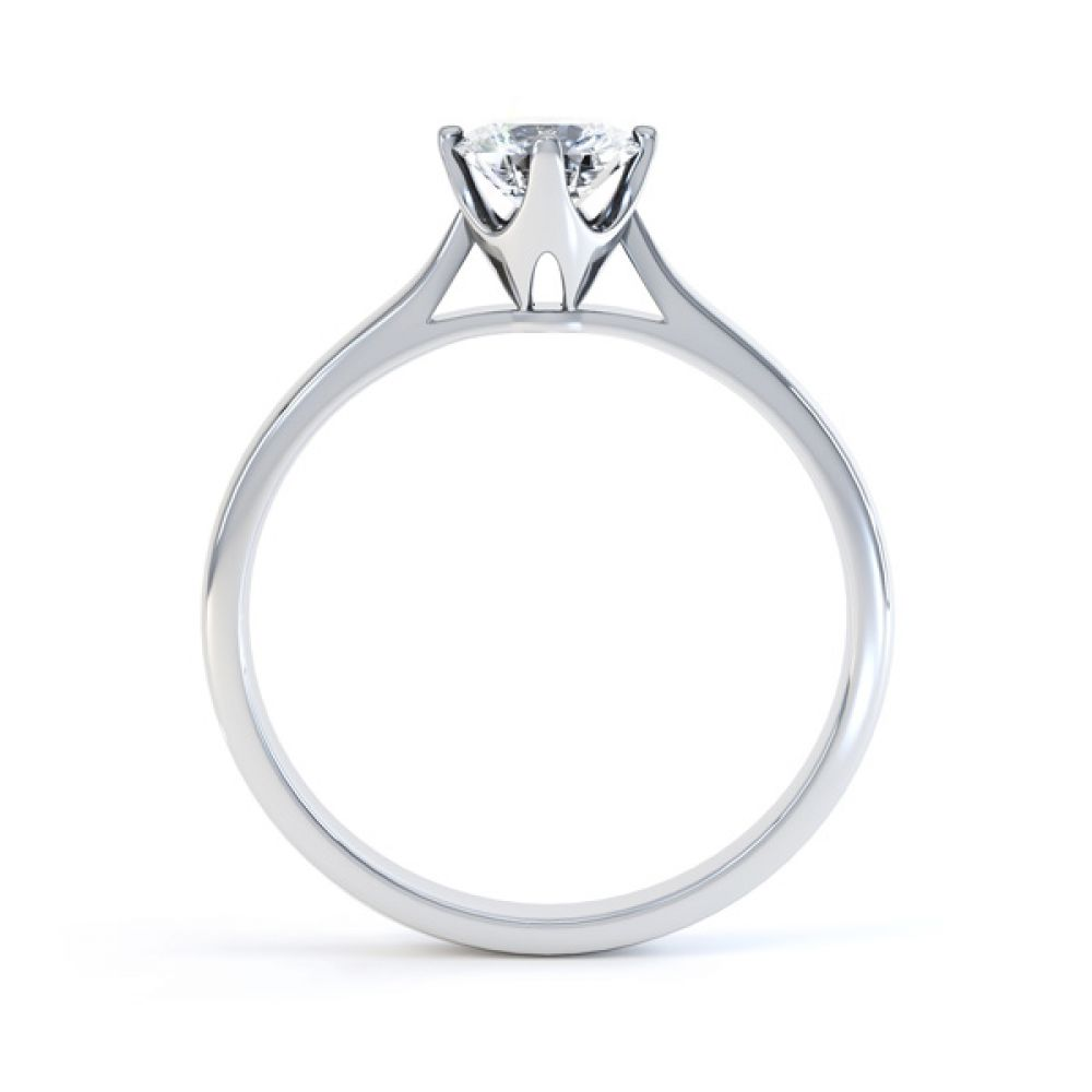 4 Claw Wedfit Compass Set Solitaire Ring Side View