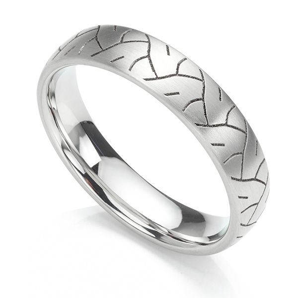 Tyre Print Wedding Ring Main Image