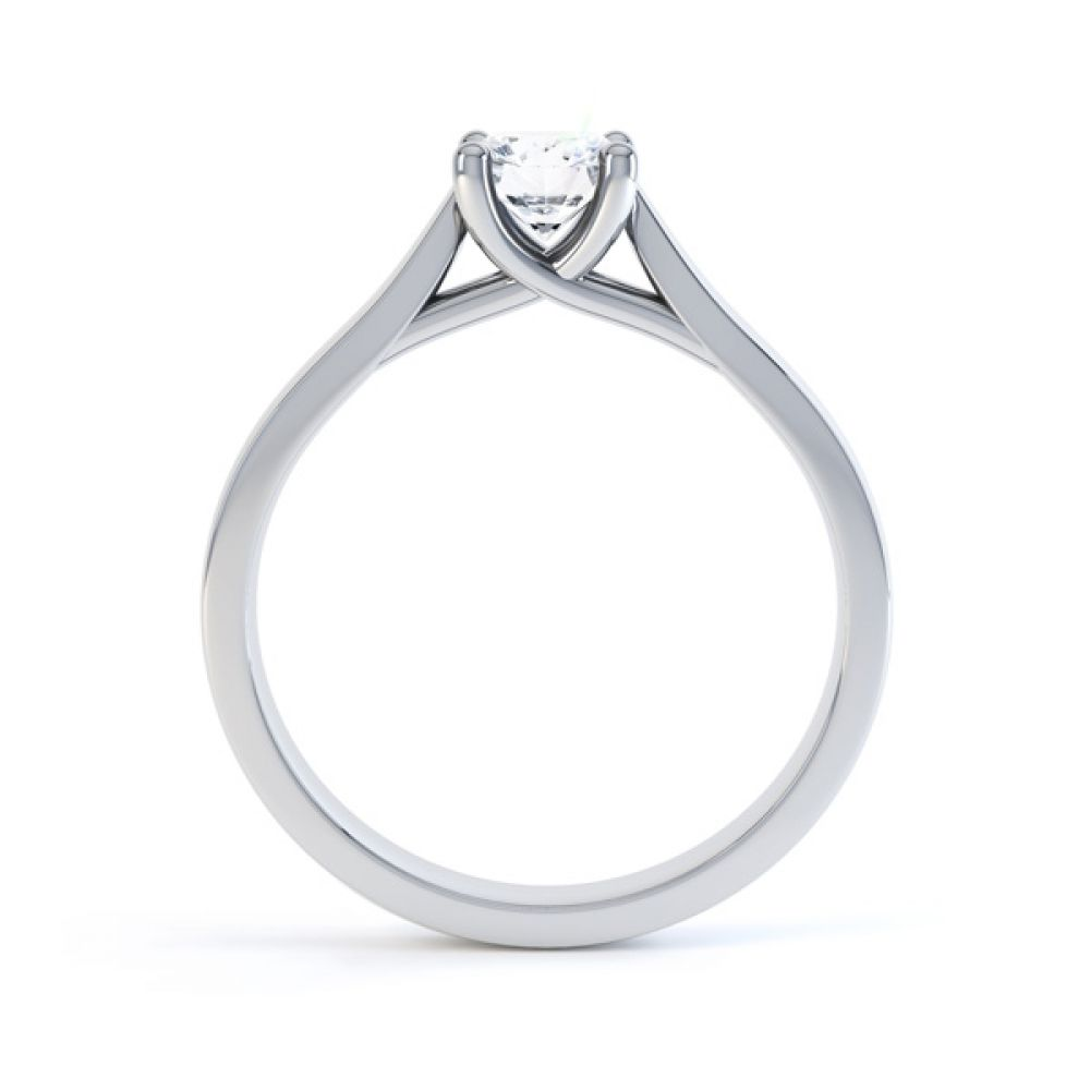 Wedfit Lucida Style Round Solitaire Engagement Ring Side View