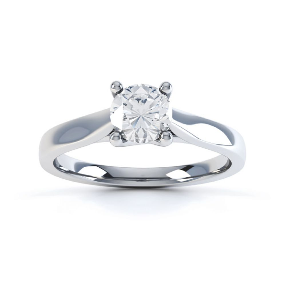Wedfit Lucida Style Round Solitaire Engagement Ring Top View