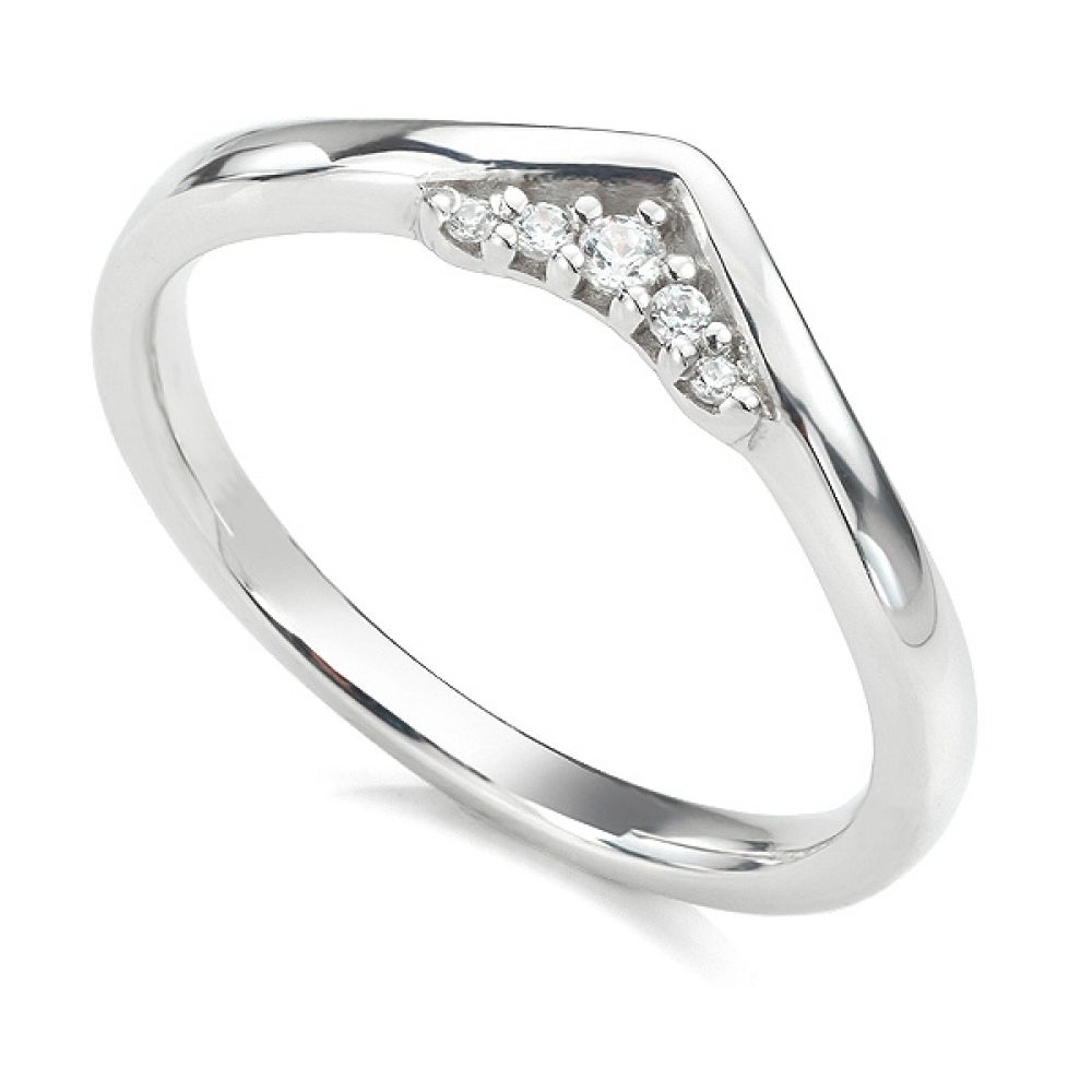 Coronet diamond wedding ring in white gold