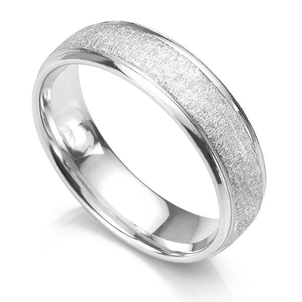 Frost Textured Wedding Ring Main Image