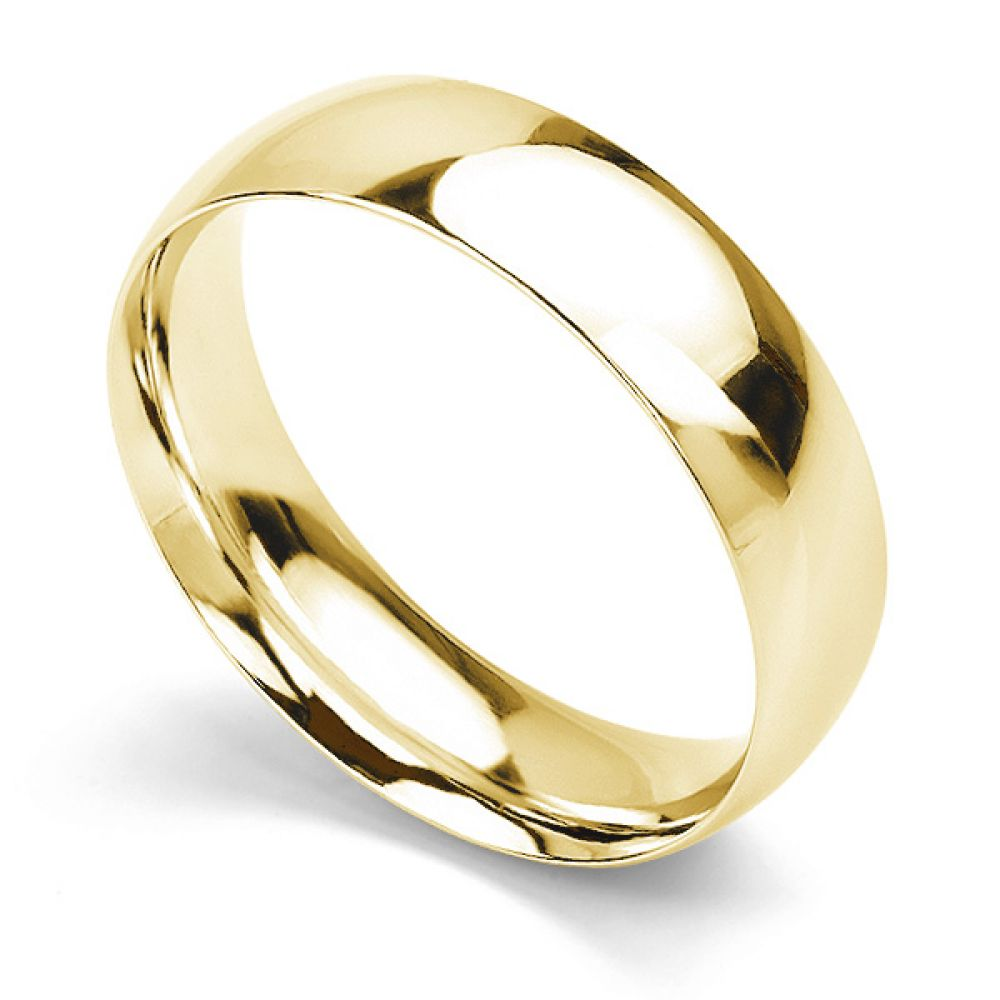 Traditional Court Wedding Ring Medium Weight Yellow Gold