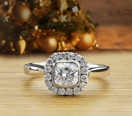 Eclipse diamond engagement ring