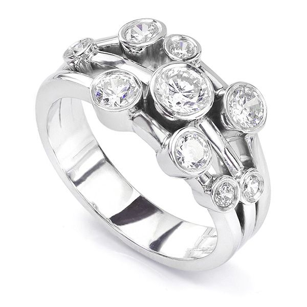 Madison 1 Carat Diamond Bubble Ring Main Image