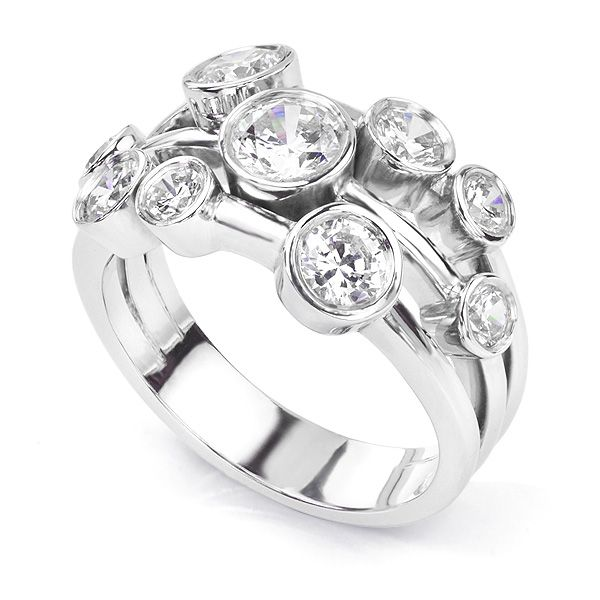Delancey 1.5 Carat Diamond Bubble Ring Main Image