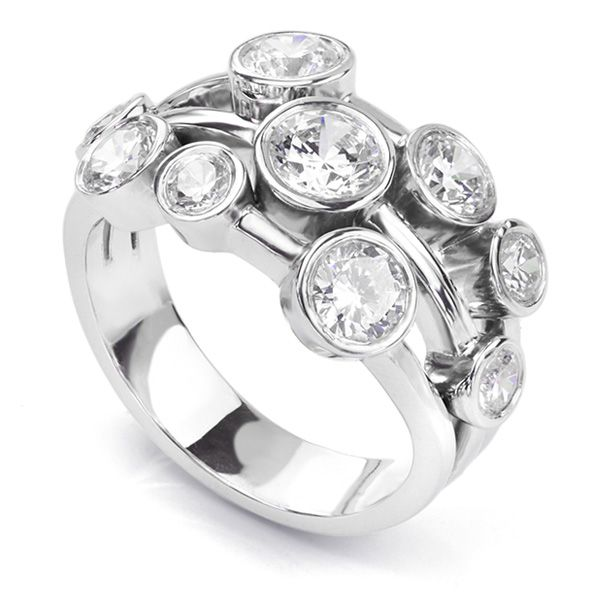 2 Carat Diamond Ring Bubble Design Main Image