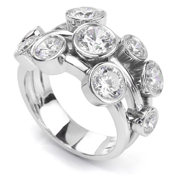 Carnegie 3 Carat Diamond Bubble Ring Main Image