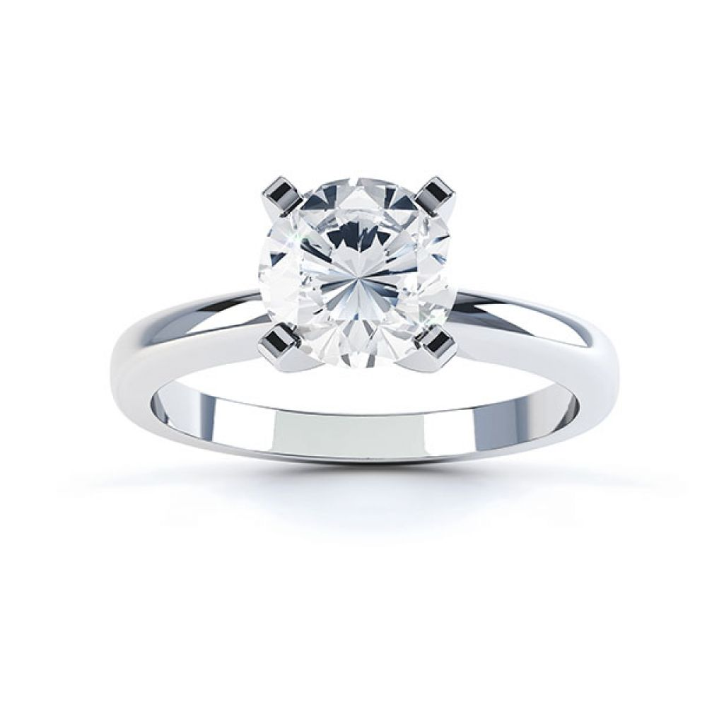 4 Claw Diamond Solitaire Engagement Ring Top