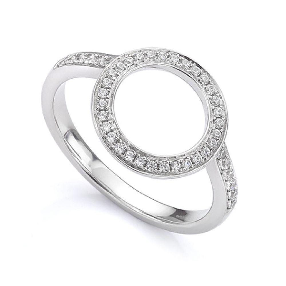 Diamond halo enhancer ring