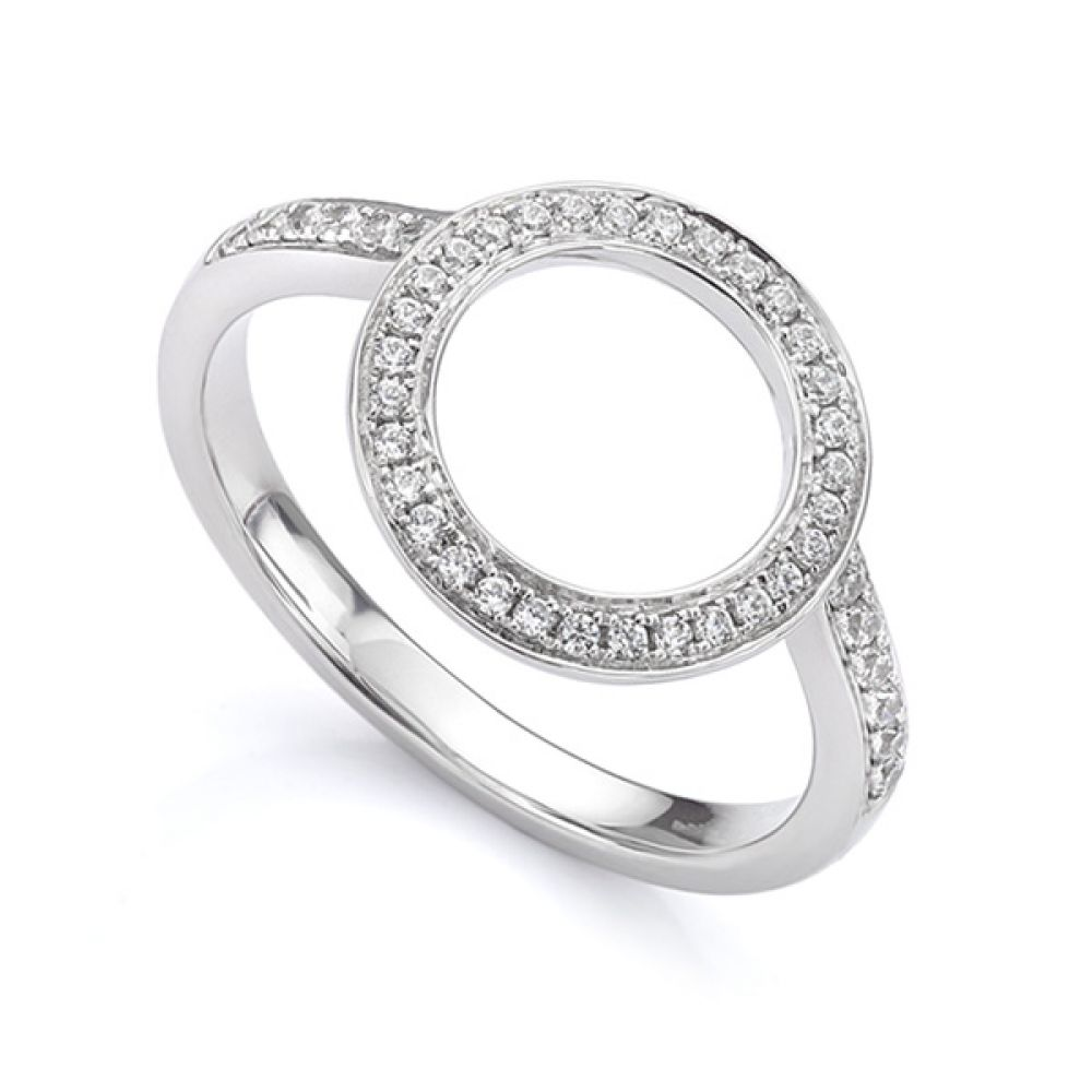 Diamond halo enhancer ring