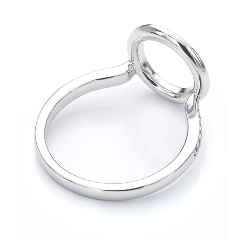 Rear view of the diamond halo enhancer ring