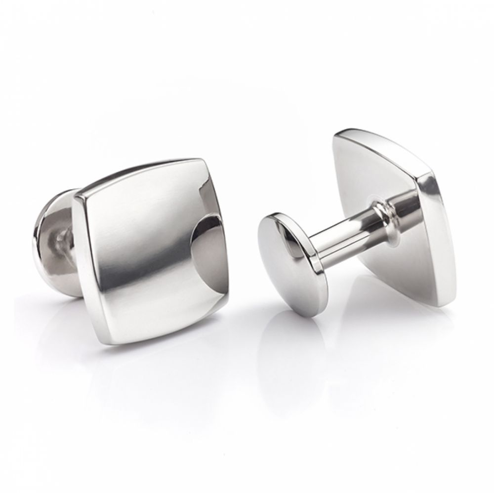 Square polished Titanium cufflinks