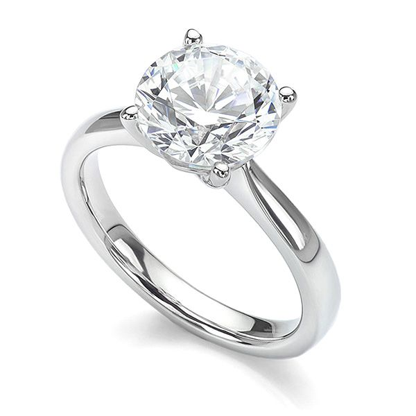 Round Solitaire Engagement Ring 4 Claw Main Image
