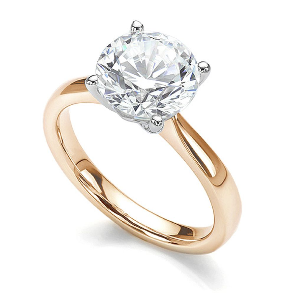 3 carat version of the Lila solitaire engagement ring in Fairtrade Yellow Gold