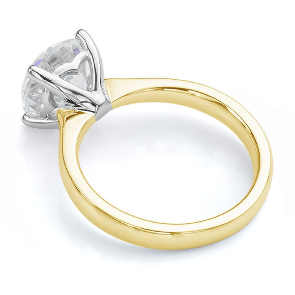 Lila solitaire engagement ring yellow gold side view