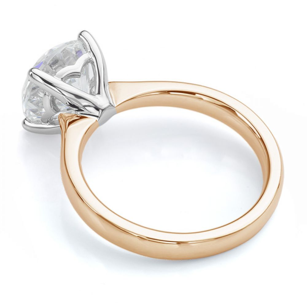 Lila solitaire engagement ring rose gold side view