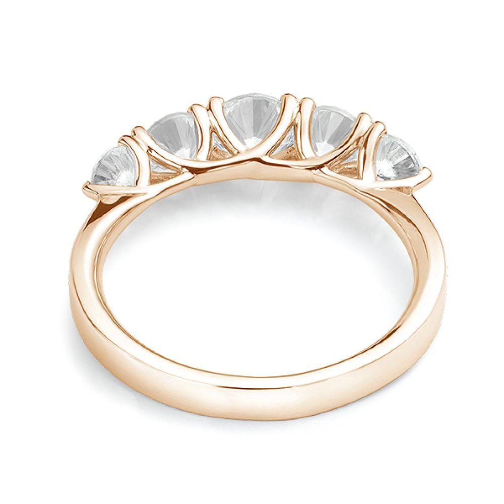 5 Stone Diamond Trellis Ring Rear View Yellow Gold5 Stone Diamond Trellis Ring Rear View Yellow Gold