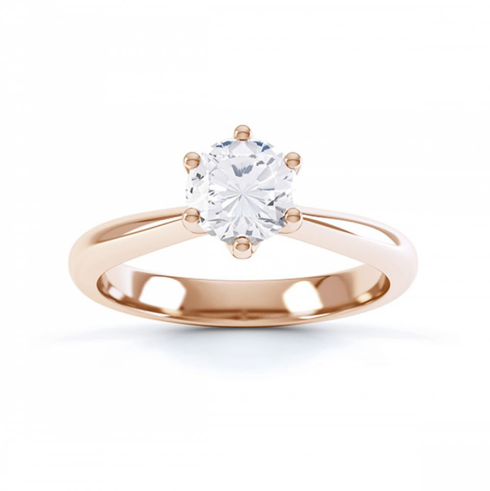 Destiny Tiffany style Rose Gold Solitaire Engagement Ring
