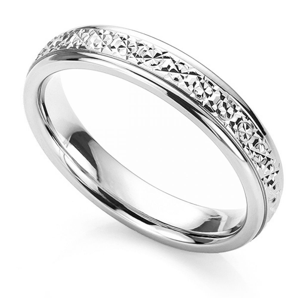 Sparkle cut wedding ring in Platinum