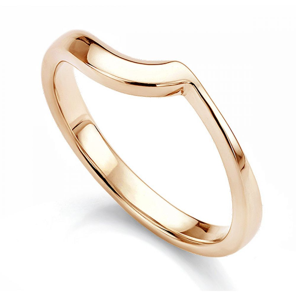 Rose gold shaped wedding ring