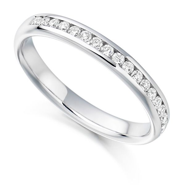 3mm Half Channel Set Eternity Ring Main Image