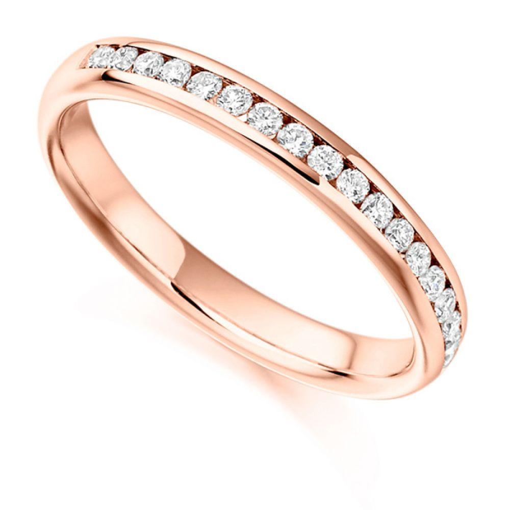 0.22ct Round Diamond Half Eternity In Rose Gold