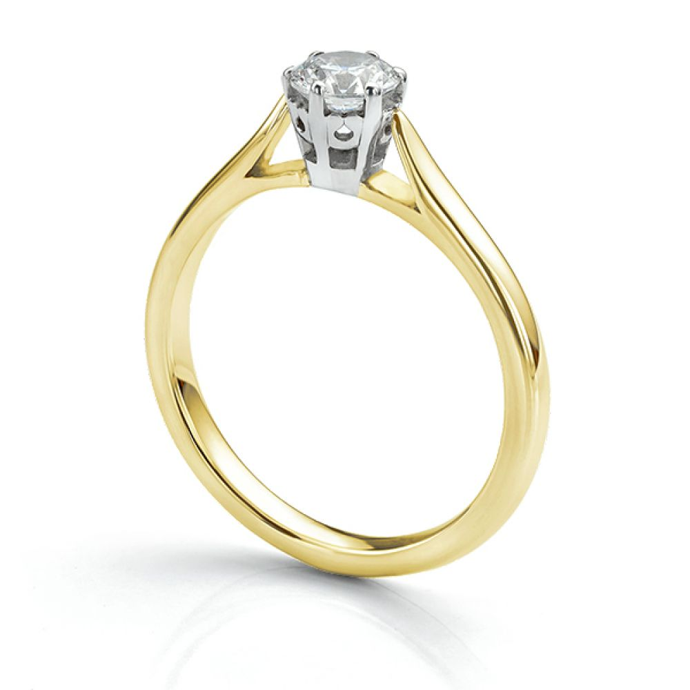 Beatrice diamond engagement ring 18ct Yellow Gold with 0.50cts diamond