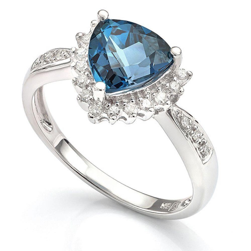 9ct Gold Topaz Trilliant Dress Ring