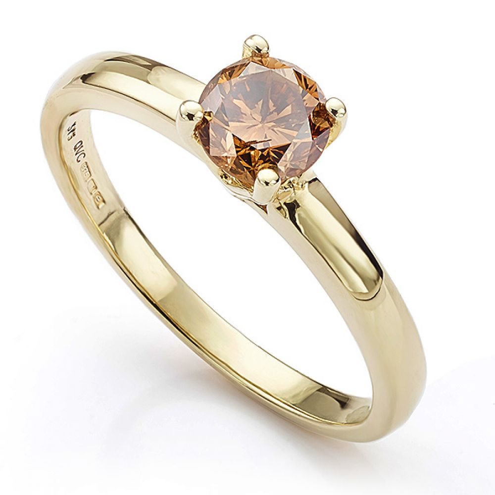 9ct Gold Chocolate Coloured Diamond Ring