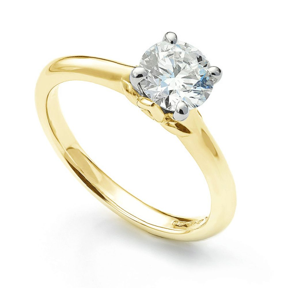Serendipity Engagement Top View Yellow Gold