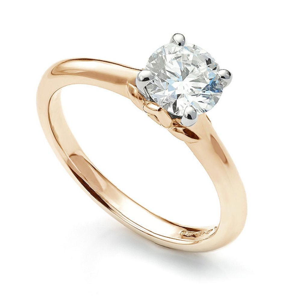 Serendipity Engagement Top View Rose Gold