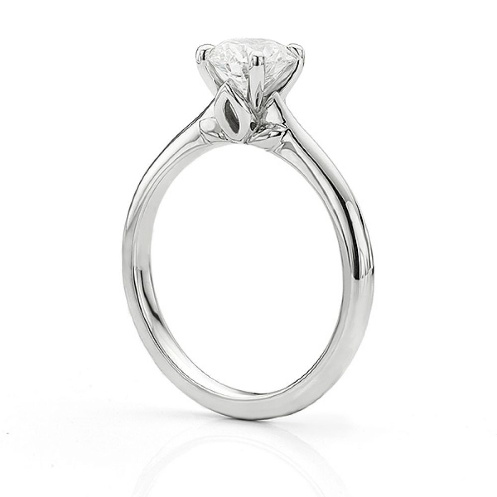 Serendipity Engagement Ring Side View White Gold