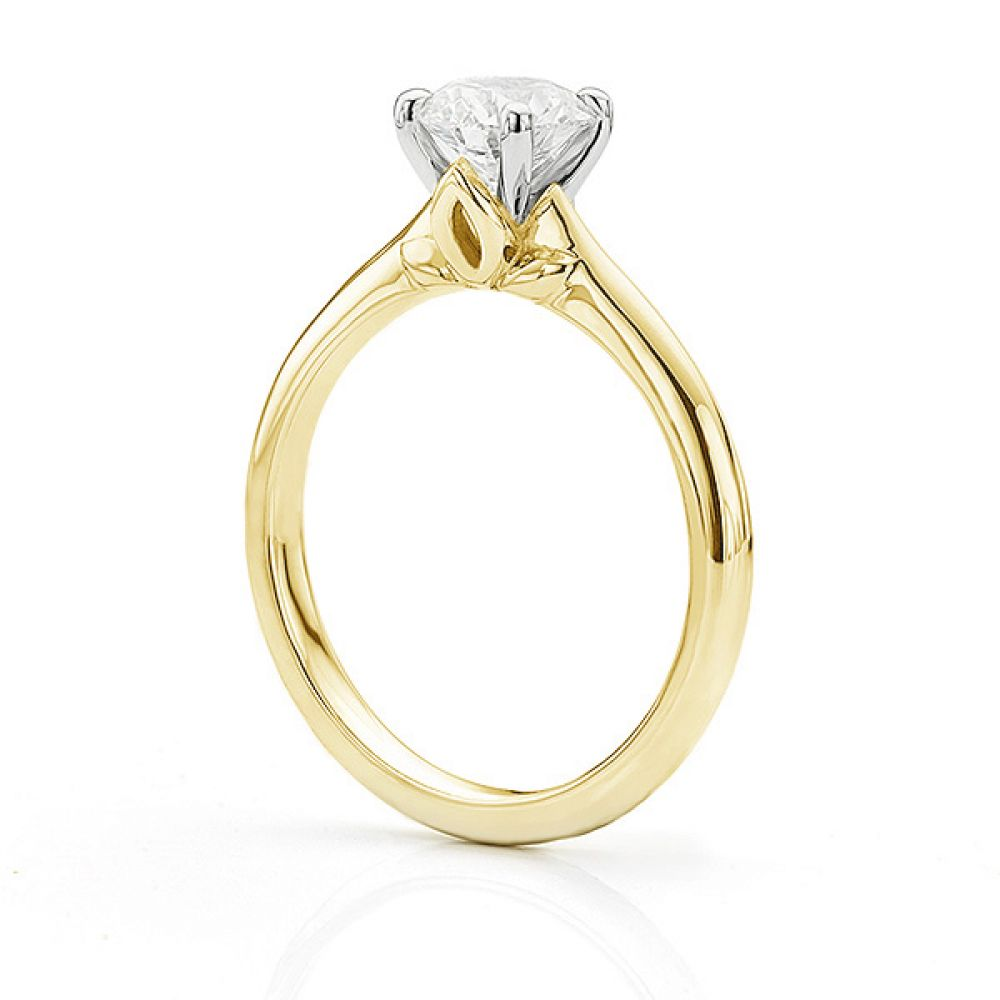 Serendipity Engagement Ring Side View Yellow Gold