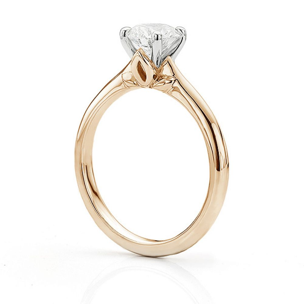 Serendipity Engagement Ring Side View Rose Gold