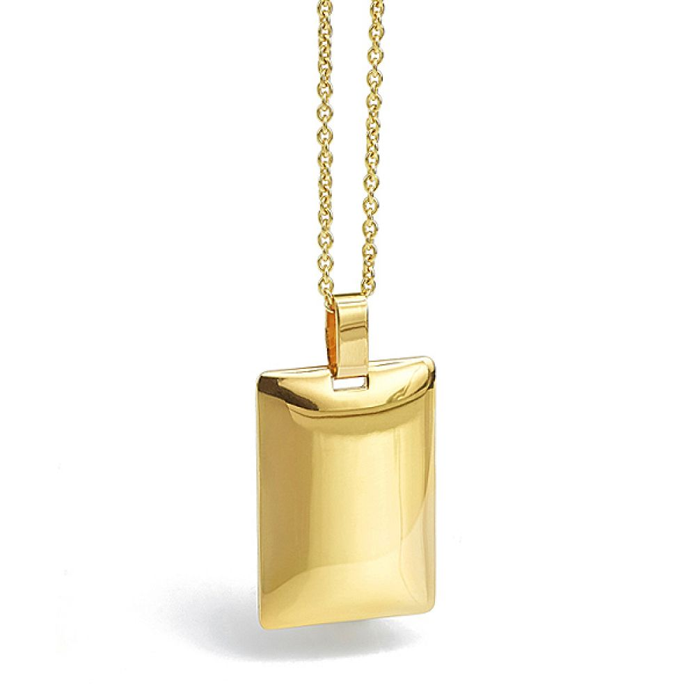 ngravable 9ct gold pendant main view