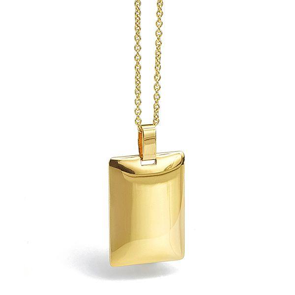Engravable 9ct Gold Pendant Main Image