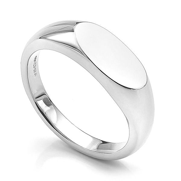 Ladies Oval Signet Ring Main Image