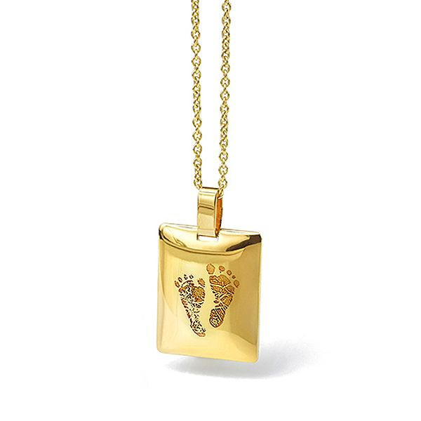 Gold Footprint Necklace Main Image