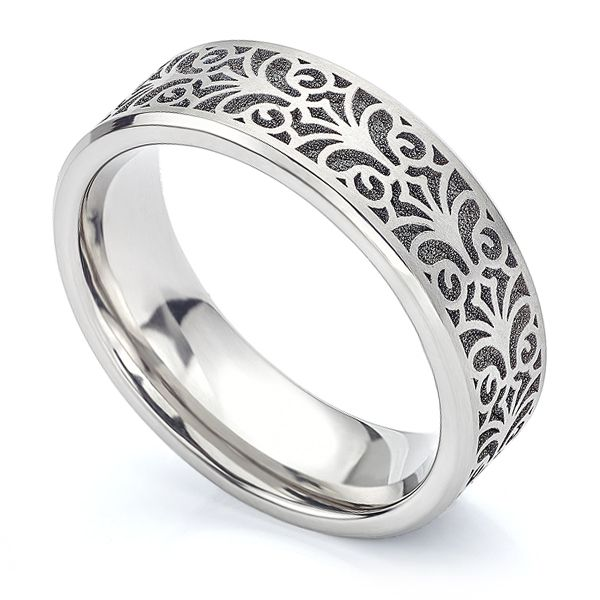 Baroque Titanium Wedding Ring Main Image