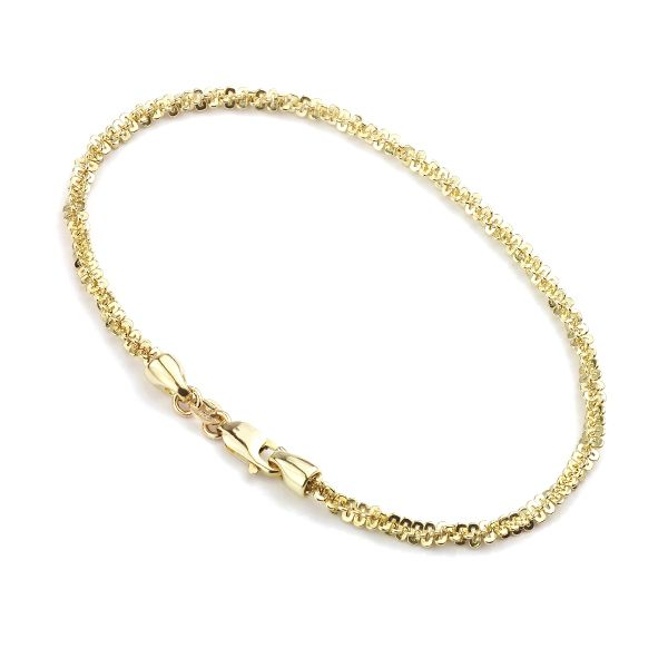 Textured 9 Carat Yellow Gold Bracelet Main Image