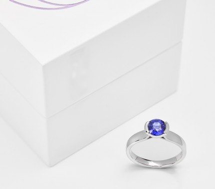 Part bezel set engagement rings - rub over settings