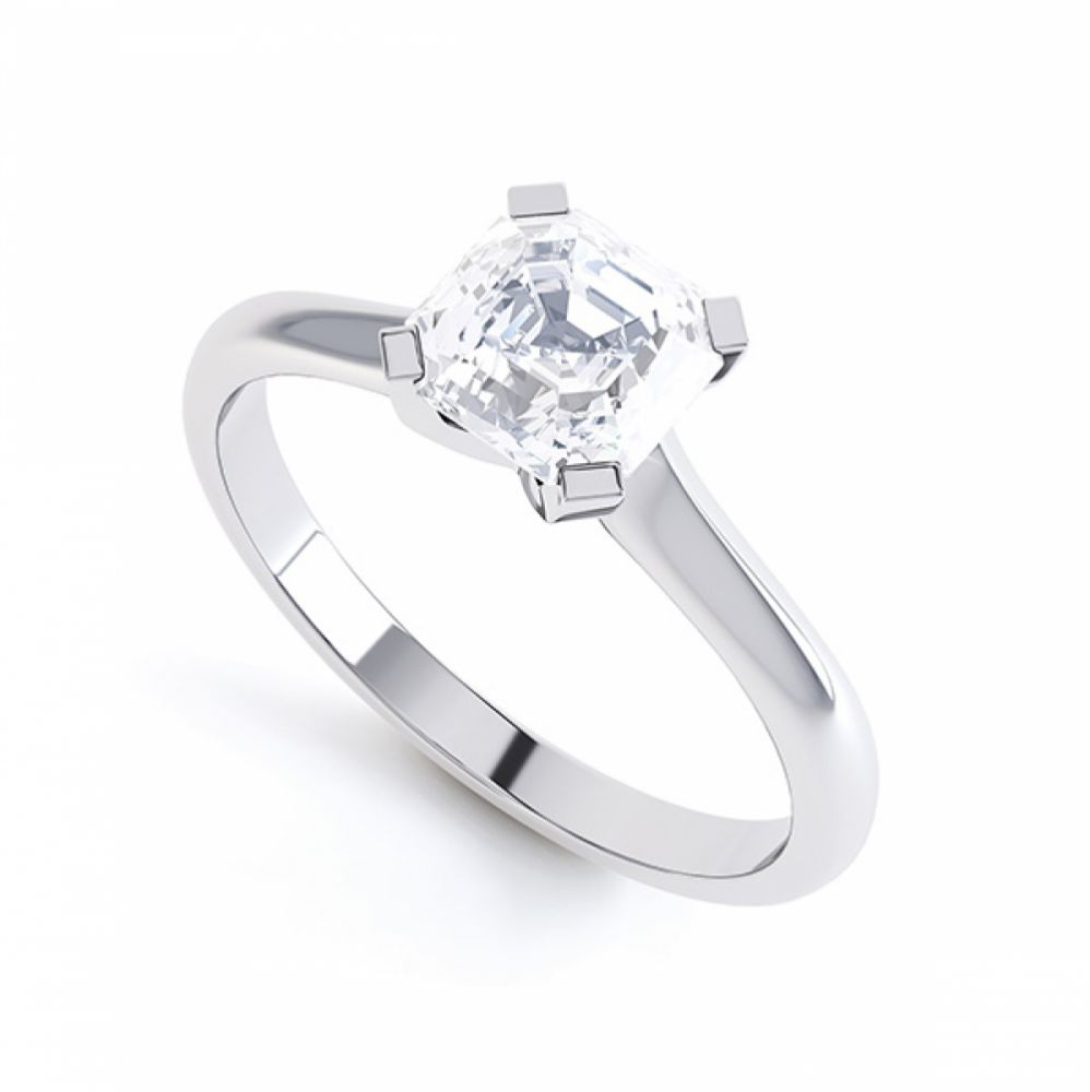 Asscher Cut Diamond Solitaire Perspective