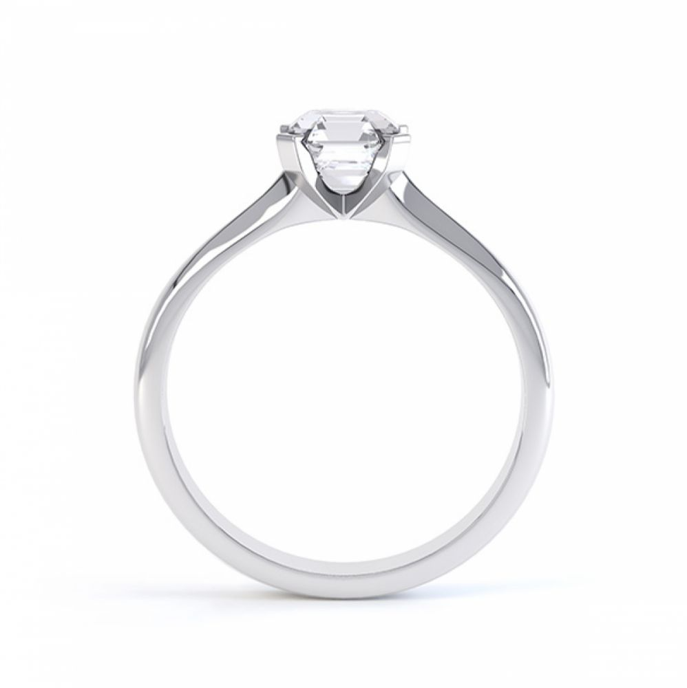 Asscher Cut Diamond Solitaire Side